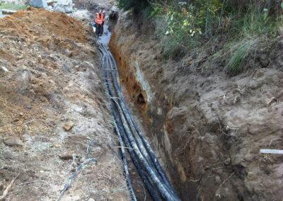 prívodné potrubie od prameňa