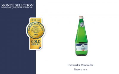 TATRANSKÁ MINERÁLKA získala ocenenie Gold Quality Award od Monde Selection